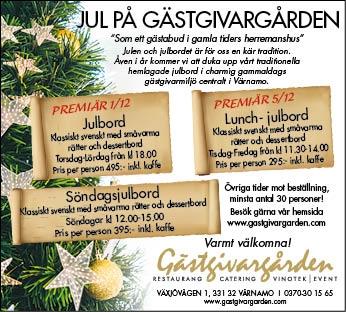 Julbord och julbuffé